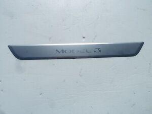 Tesla Model 3 Front Door Sill Scuff Plate Trim OEM M3