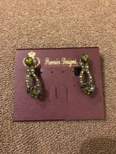 """Toned Clip Earrings $32 (Dc) Premier Designs """"Sage Blossom"""" Silver/Green"""