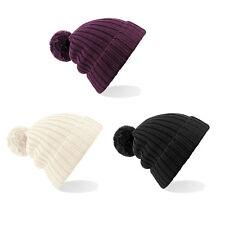Arosa Fur Pom Pom Beanie BC417-señoras con estilo Cálido Acogedor Invierno Esquí Sombrero