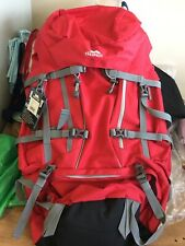 TRESPASS TREK 66 LITRE RED RUCKSACK hiking treking backpack bag climbing BNWT