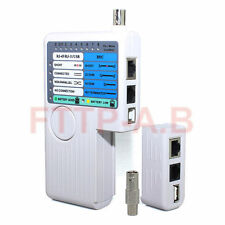 Remote RJ11 RJ45 USB BNC LAN Network Cable Tester For UTP STP LAN Cables Tracker