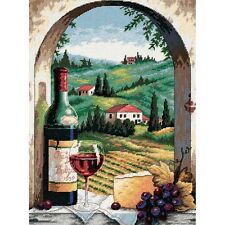 "Dimensions 20054 Tuscan View Needlepoint Kit-12""X16"" Stitched In Floss"