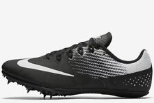 NIKE Zoom Rival S 8 Track Field Running Shoes Sprint Spikes Black Silver US 12