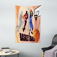 Sports Tapestry Vintage Basketball Art Print Wall Hanging Decor