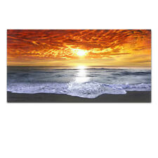 Canvas Print Painting Picture Home Decor Wall Art Sea Beach Landscape Orange