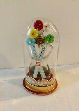 Vintage SHOCKING DE SCHIAPARELLI PARFUM TORSO BOTTLE GLASS FLOWER