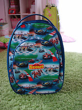 SCOUT TROLLEY ROLLEN KOFFER RACE RENNWAGEN CARS RENNAUTO Tasche blau Jungs TOP!!