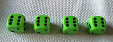 Set of 4  LIME GREEN Dice Dust Valve Caps novelty
