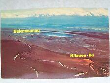 Hawaii, Halemaumau Crater & Kileauea-Iki, Pristine Hi. Unused Postcard Pc
