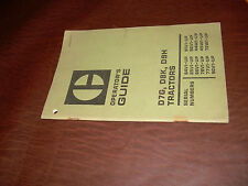 CATERPILLAR CAT D7G D8K D9H TRACTOR OPERATION GUIDE  S/N