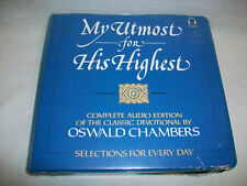 NEW My Utmost For His Highest Audio Edition O. Chambers