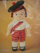 Vintage Campbell Soup Kid Sewing Craft Kit Boy Doll Red Tartan Plaid Short Tam