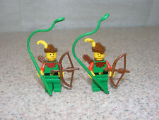LEGO Forestmen Minifigure With Shield Red Plume Feather Whip Quiver Castle