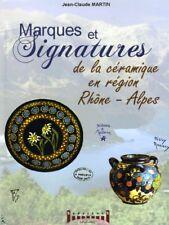 Marques et Signatures de céramique région Rhône-Alpes