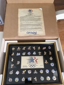 1984 Los Angeles Limited Edition Olympic 38 Pin Set Sam The Eagle Set Series 1