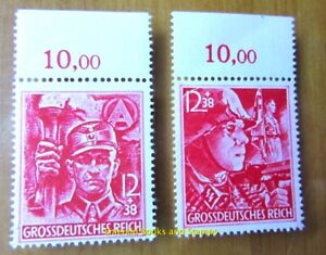 EBS Germany 1945 Party Organisations SA & SS Michel 909-910 MNH** 3233 OBERRAND