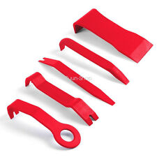 5x Red Nylon Car Audio Gps Radio Door Trim Panel Dash Install Remover Tools