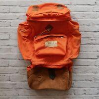 Vintage Class-5 Hiking Backpack Pack Leather Orange