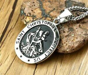 St Christopher Pendant Necklace