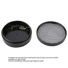Black Plastic Crystal Bead Round Moisturizing Humidifier 68%-72% for 50 Cigars