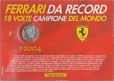 Medaglia Ufficiale FERRARI F2004 Schumacher Ferrari Da Record BOLAFFI 1 VITTORIE
