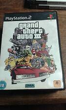 * Sony Playstation 2 Game * GRAND THEFT AUTO III 3 THREE * PS2 GTA