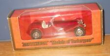 Matchbox Yesteryear Y3 Riley MPH ruby body, red chassis two tone version
