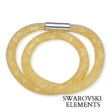 44ff6dec6c038 Bracelet collier stardust pourssiere d étoile Swarovski® Elements JAUNE  SOLEIL
