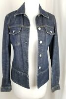 Women's Helmut Lang Blue Denim Jean Jacket Buttons up Made in Italy Size 40