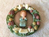 "HALLMARK 1977 Tree Trimmer Twirl About Ornament - Girl Praying - 4"" - In box"