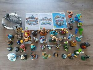 3 Jeux Skylanders Giants + Swap Force + Trap Team sur Wii avec 42 figurines