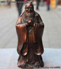 China Bronze Ancient Confucianists Sages Confucius Kong zi Saint Statue Kongfuzi