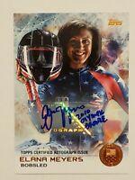2014 Topps U.S. Olympic Team Autographs Bronze - Elana Meyers - 32/50 - BV $30