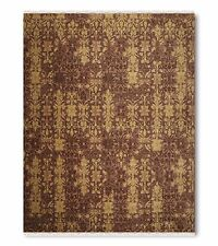 9' x 12' Hand knotted 100% Wool pile Oriental Area Rug Transitional 9x12 Brown