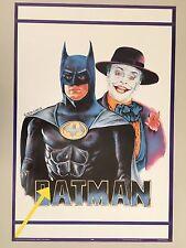 BATMAN & JOKER PAINTED BY LEON GARCIA,JACK NICHOLSON, M.KEATON,RARE 1989  POSTER