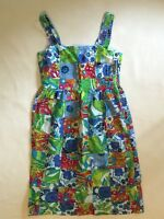Izod Patchwork Dress Floral Size Small Bright Summer Beach Hippie 90s