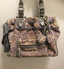 Juicy Couture Velour Leopard Animal Print Large Daydreamer Purse Bag Tote