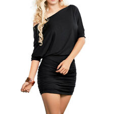 Womens Summer One Shoulder Short Mini Dress Evening Club Party Cocktail Dress