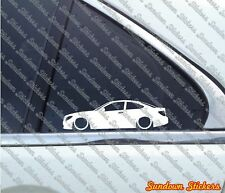 2X Lowered car outline stickers - for Mercedes C-Class W204 Coupe (2008+)