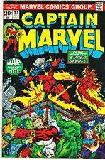 Captain Marvel #27 1973 1st Full App Death