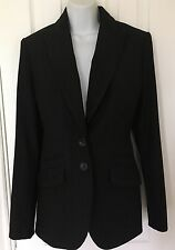 Next Tailored Jacket Black Stripe Size 10 Office/Business