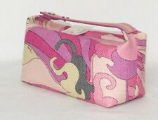 Authentic EMILIO PUCCI woven jute small handbag PINK NWT