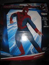 NIP MEN'S THE AMAZING SPIDERMAN 2 HALLOWEEN COSTUME SIZE XXL I SHIP EVERYDAY