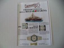 advertising Pubblicità 1982 EBERHARD CROISIERE