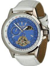 Minoir Uhren Aerostar silber/blau Automatikuhr Unisexuhr Tachymeter-Skala