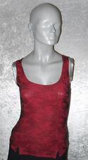 Pimkie Top rot/schwarz gemustert Rundhals Größe M Neuwertig