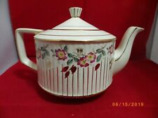 Sadler Floral China Teapot with Gold Trim Made in England