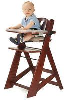 Keekaroo Adjustable Height Right Mahogany High Chair