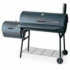 Large Outdoor Charcoal Smoker Grill Bbq Outdoor Cooking Deluxe Smoker