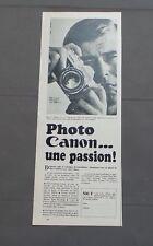 PUB PUBLICITE ANCIENNE ADVERT CLIPPING 220517 APPAREIL PHOTO CANON.. UNE PASSION